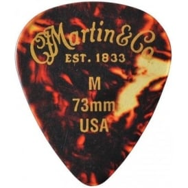 Martin Tortoise Shell 351 .73mm Medium Standard Guitar Pick 12-Pack
