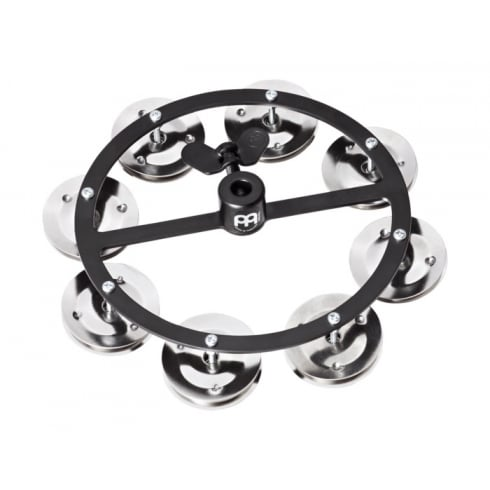 Meinl Headliner Series Hi-Hat Tambourine, 1 Row Steel Jingles, Black