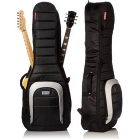 MONO M80-2G-BLK Dual Electric Guitar Case Jet Black Gig Bag - Waterproof