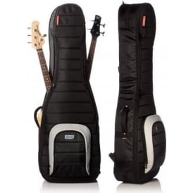 MONO M80-2B-BLK Dual Bass Guitar Black Case Gig Bag Jet Black - Waterproof