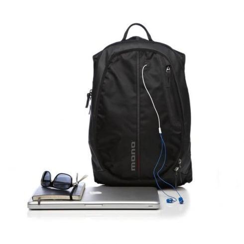 MONO Civilian Series Black Expander Backpack CVL-XPK-BLK