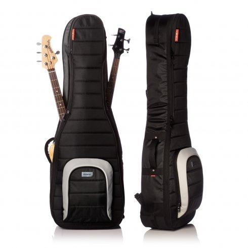 mono m80 2b blk dual bass guitar case gig bag jet black. Black Bedroom Furniture Sets. Home Design Ideas