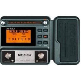 MOOER GE100 Guitar Multi-Effects Processor Pedal with Expression Pedal