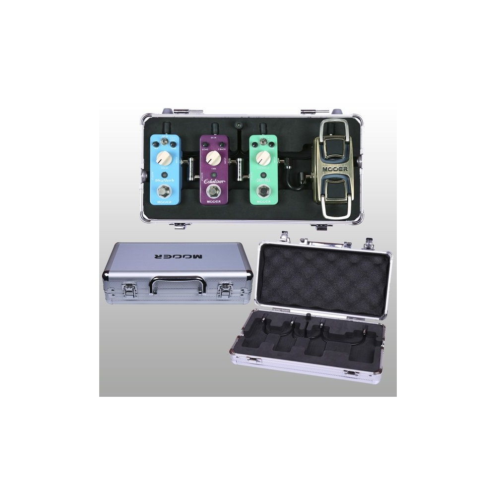 mooer m4 firefly mini pedal board flight case for micro guitar pedals. Black Bedroom Furniture Sets. Home Design Ideas