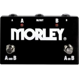 Morley ABY Selector & Combiner Signal Switch Pedal - 2-Button Footswitch