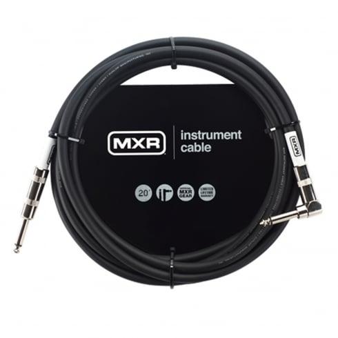 MXR Standard Instrument Cable, 20ft, Angled Jack