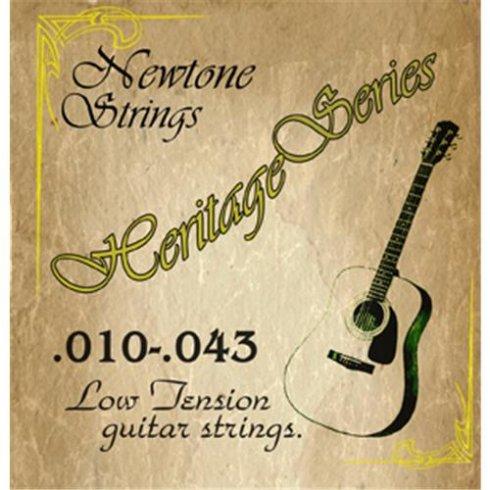 newtone strings newtone heritage phosphor bronze low tension acoustic guitar strings 10 43. Black Bedroom Furniture Sets. Home Design Ideas