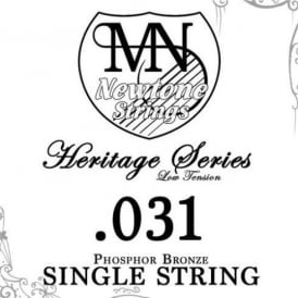 Newtone Heritage Series Low Tension Phosphor Bronze Single String 0.031