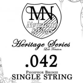 Newtone Heritage Series Low Tension Phosphor Bronze Single String 0.042