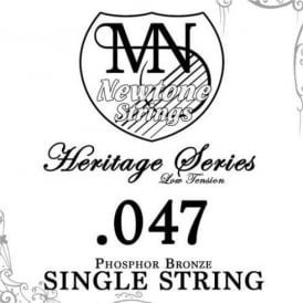 Newtone Heritage Series Low Tension Phosphor Bronze Single String 0.047