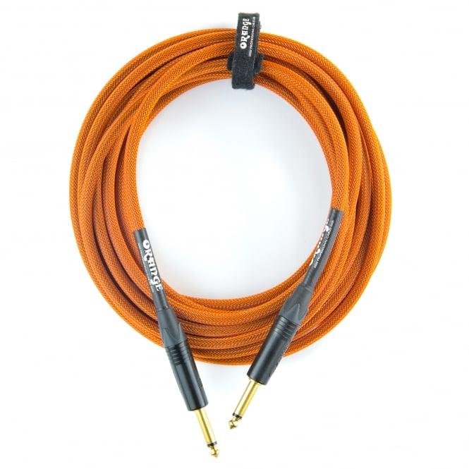 Orange 10ft Straight Orange Intrument Cable