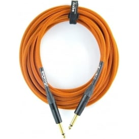 Orange 10ft Straight Orange Intrument Cable