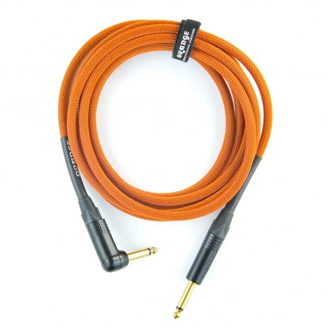 Orange 20ft Angled Orange Intrument Cable