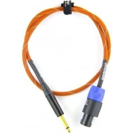 Orange 6ft Speaker Cable, Jack-speakON, Orange/White