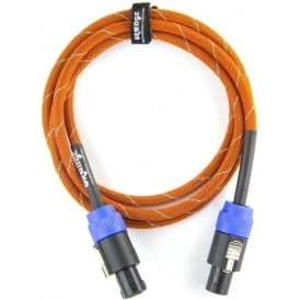 Orange 6ft Speaker Cable, speakON, Orange/White