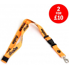 Orange Guitar Amplifiers 20mm Lanyard - Iconic British Amplification
