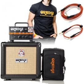 Orange Micro Dark Terror Full BIG Kit inc. PPC-108 Black Cab, Micro Dark Gig Bag, Cables and Logo T-Shirt!
