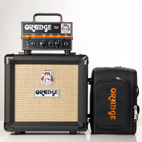 Orange Micro Dark Terror Full Kit inc. PPC-108 Black Cab and Micro Dark Gig Bag