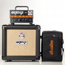 Orange Micro Dark Terror Full Kit inc. PPC-108 Black Cab & Micro Dark Gig Bag