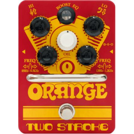 Orange Two Stroke Boost Pedal with Active Dual Parametric EQ