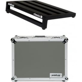 Pedaltrain Classic JR Pedalboard with Fitted Tour Hard Case