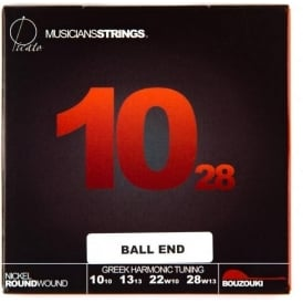 Picato 10-28 Bouzouki Strings Greek Harmonic Tuning Ball End (Gauges: 10+10; 13+13; 22w+10; 28w+13)