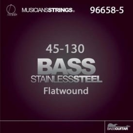 Picato 45-130 5-String Stainless Steel Flatwound Long Scale Bass Guitar Strings