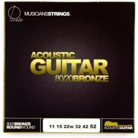 Picato 640 80/20 Bronze 11-52 Custom Light 90640 Acoustic Guitar Strings