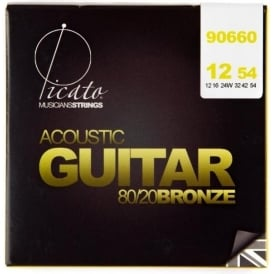Picato 660 80/20 Bronze 12-54 Light Acoustic Guitar Strings