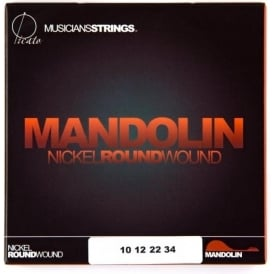 Picato Nickel 10-34 Mandolin Strings, Loop End