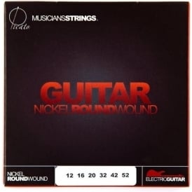 Picato Nickel Roundwound 12-52 + Plain 3rd Guitar Strings