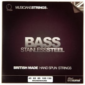 Picato Stainless Steel Roundwound Bass Guitar Strings,  45-130, 5-String