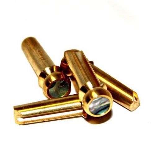 Pinz Brass BASS Guitar Bridge Pins Abalone