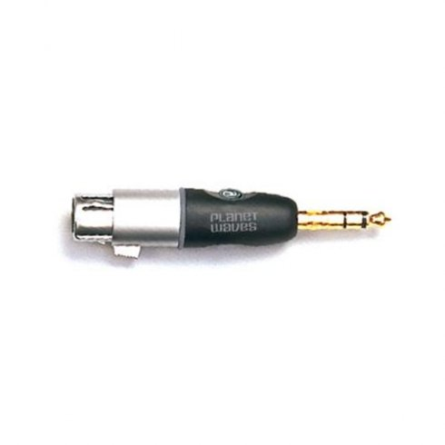 "Planet Waves Adapter 1/4"" Jack Male Stereo - XLR Female"