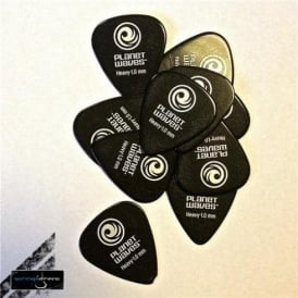 Planet Waves Celluloid 351 Black Picks 10-Pack .039 Heavy