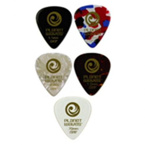 Planet Waves Celluloid Standard White Pearl Pick 25-Pack Heavy