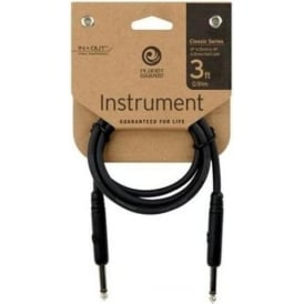 Planet Waves Classic Series 3ft Patch Cable Straight-Straight PW-CGTP-03