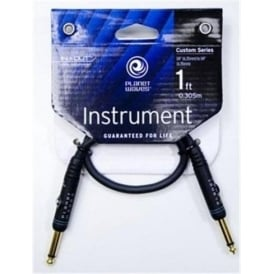 Planet Waves Custom Series 1ft Guitar Effects Patch Cable Straight-Straight