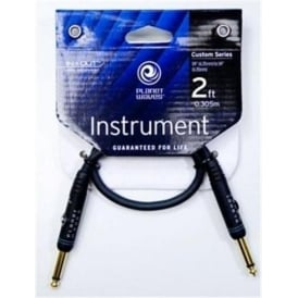 Planet Waves Custom Series 2ft Guitar Patch Cable Straight-Straight PW-PC-02