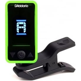 Planet Waves ECLIPSE Clip-On Headstock Guitar Tuner, Green