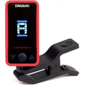 Planet Waves ECLIPSE Clip-On Headstock Guitar Tuner, Red