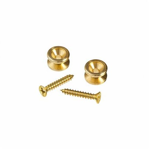 Planet Waves Guitar Strap Button Brass End Pin 2-Pack