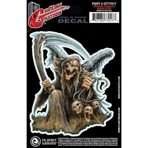 Planet Waves Guitar Tattoo Reaper 3 Skulls