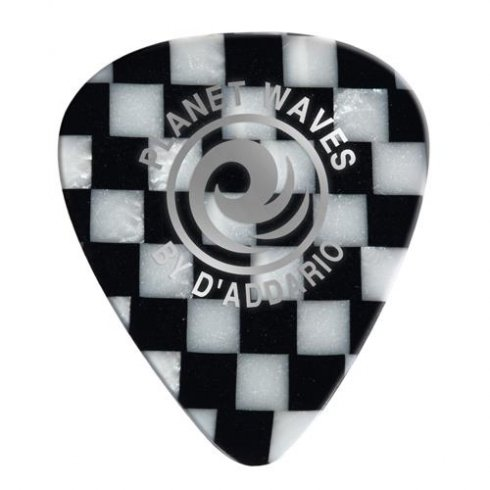 Heavy Gauge Checkerboard Celluloid Guitar Picks (10-Pack)