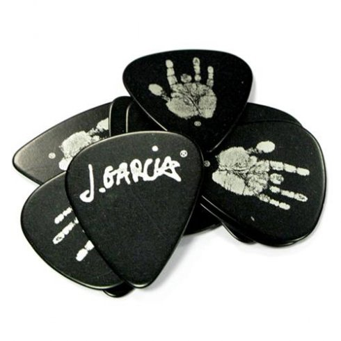 Planet Waves Jerry Garcia Celluloid Black Pearl Hand Picks 10-Pack Thin