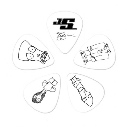 Planet Waves Joe Satriani Signature Picks White 10-Pack Heavy Guitar Plectrum Pack