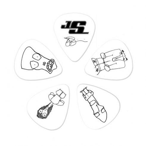 Planet Waves Joe Satriani Signature Picks White 10-Pack Thin Guitar Plectrum Pack