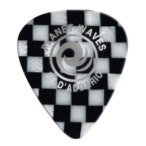 Planet Waves Medium Gauge Checkerboard Celluloid Guitar Picks (10-Pack)