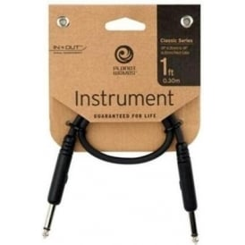 Planet Waves Classic Series 1ft Patch Cable Straight-Straight