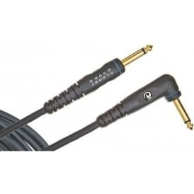 Planet Waves Custom Series 20ft Angled Jack to Straight Instrument Cable
